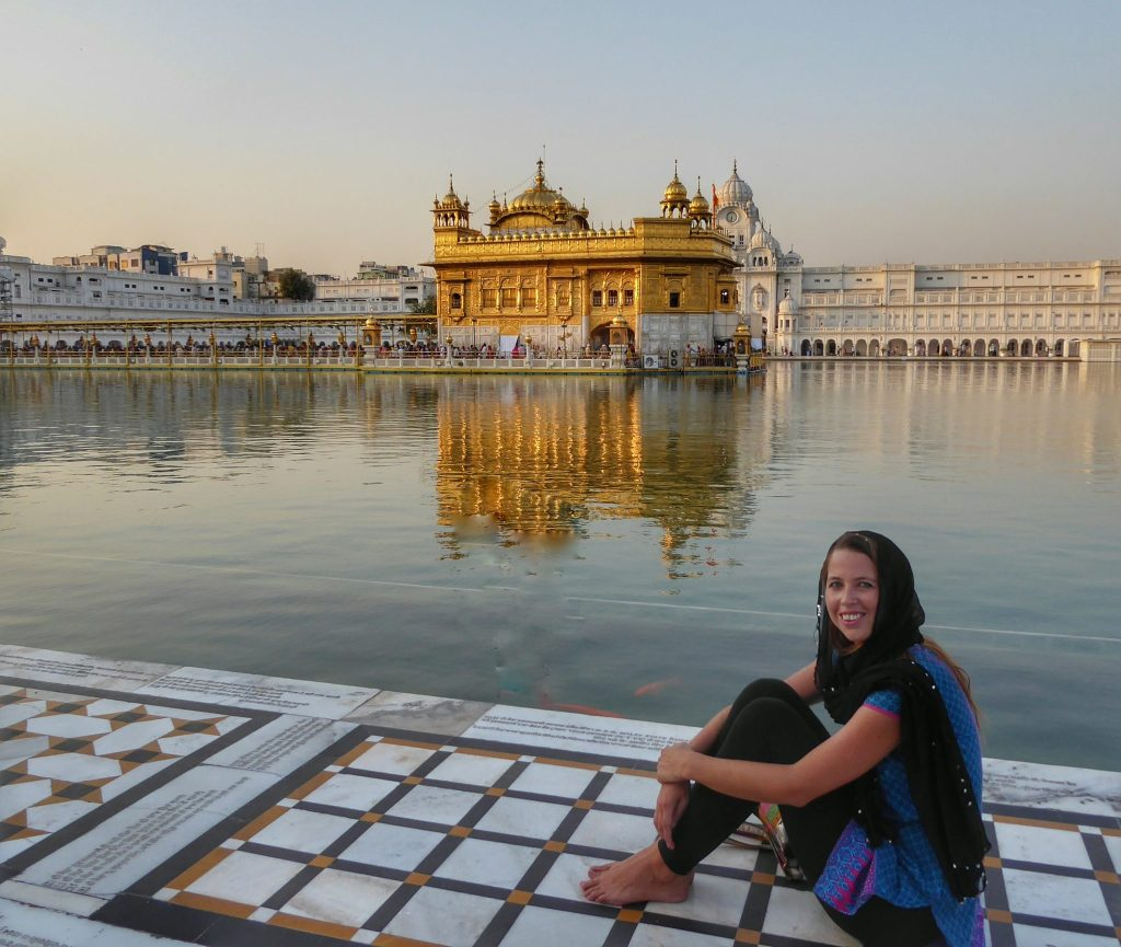 Anna at the golden temple