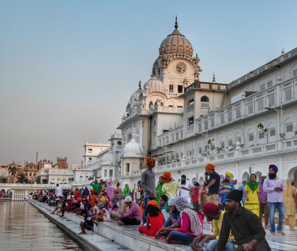 pilgrims at the golden temple