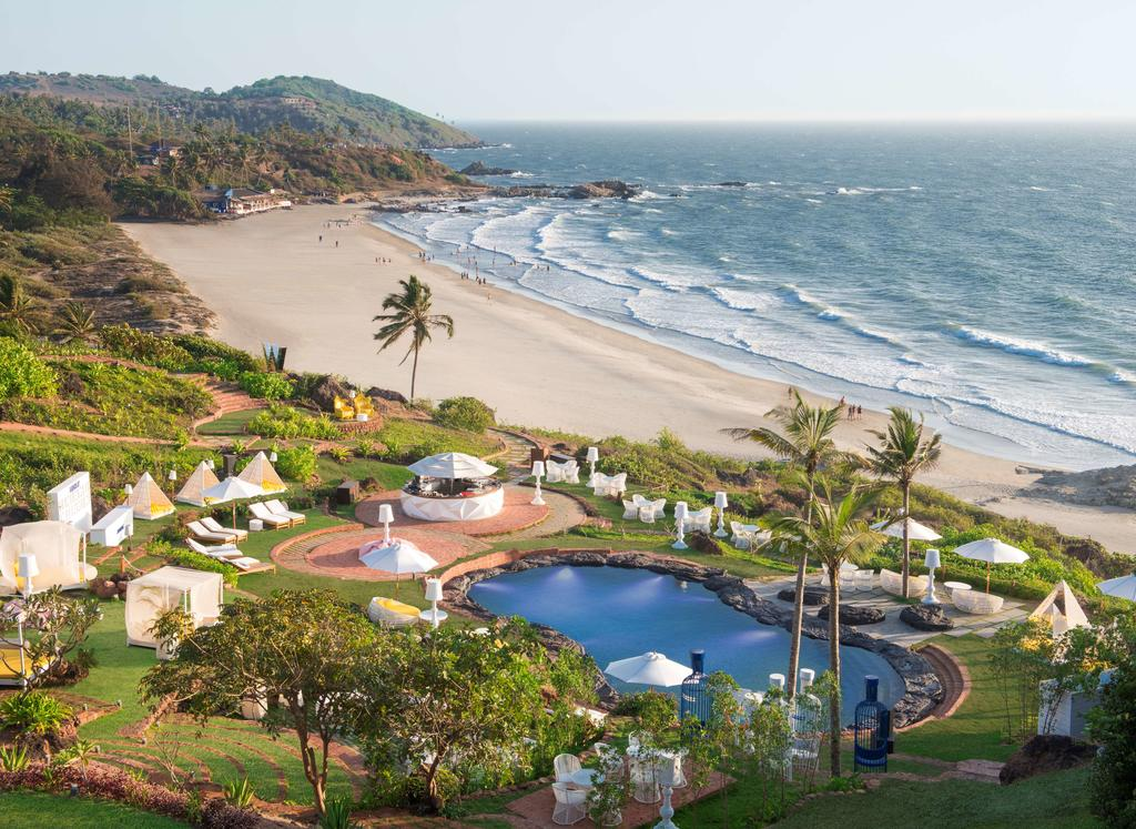 views over vagator beach from the W, one of my favourite luxury hotels in Goa