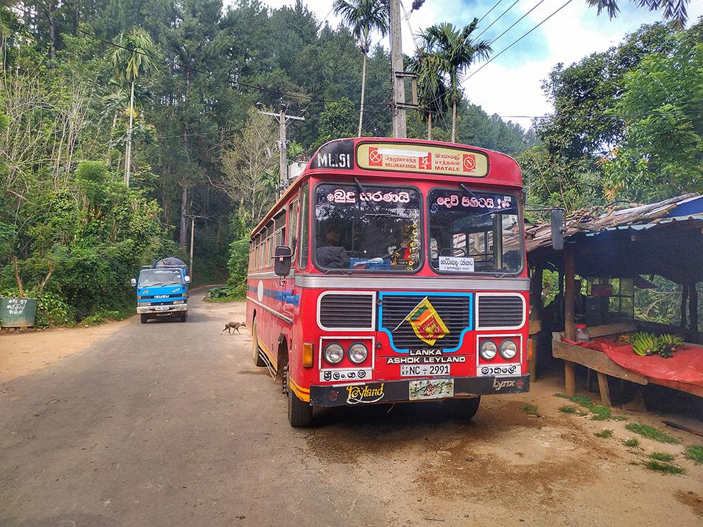 sri lankan bus traveling in sri lanka