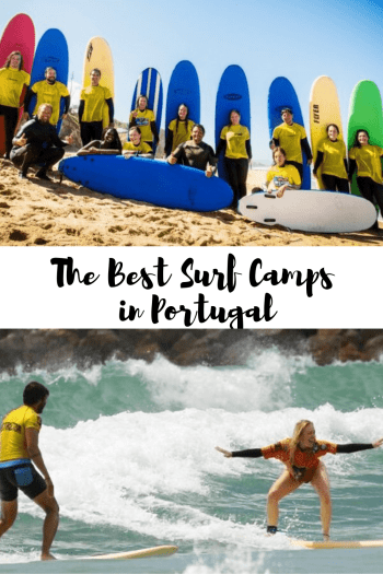 The Best Surf Camps in Portugal pin