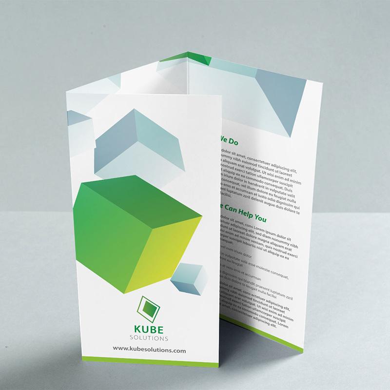 A4 C Fold Leaflet Upright