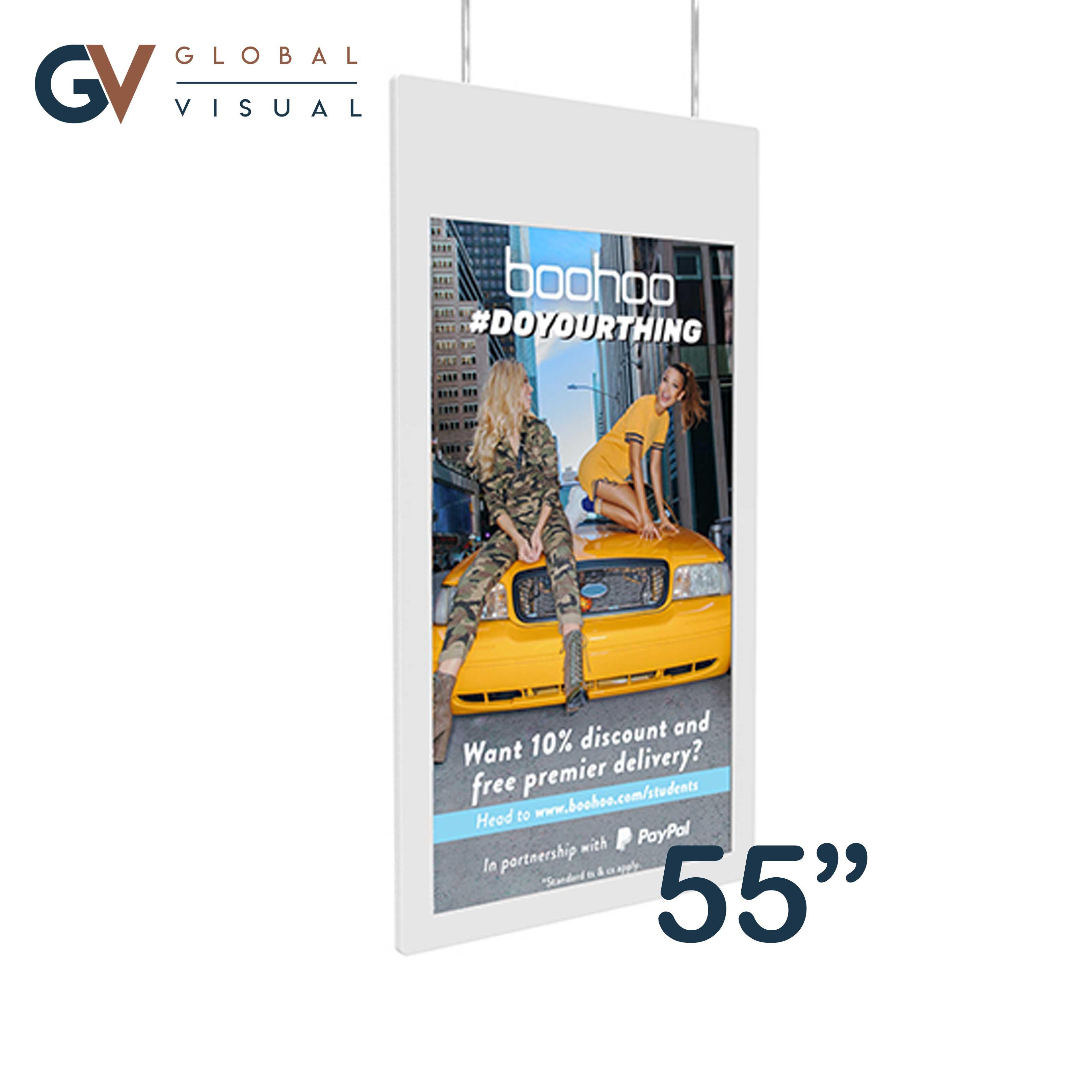"Image of 55"" Double Sided Window Display"