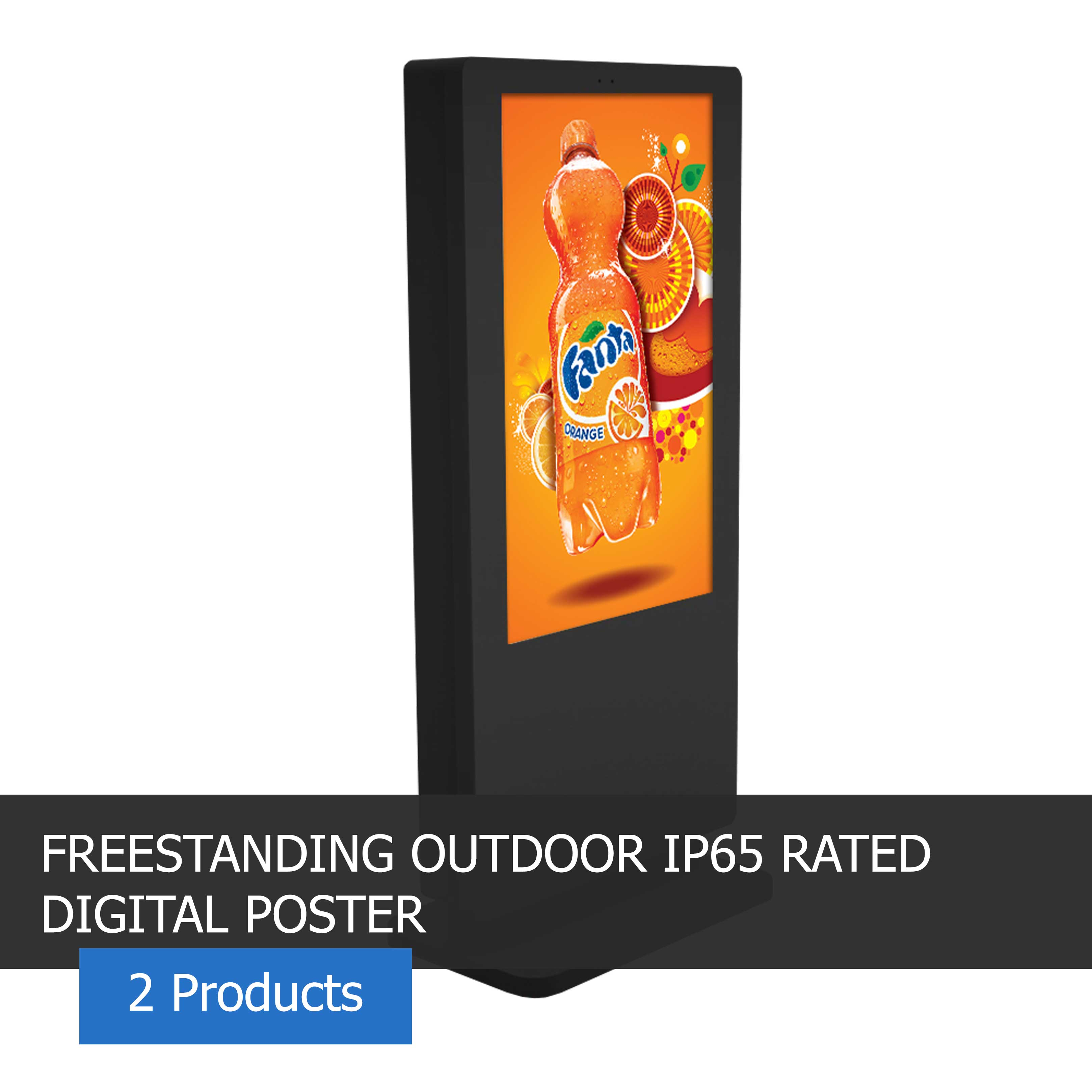 image of a freestanding outdoor digital poster