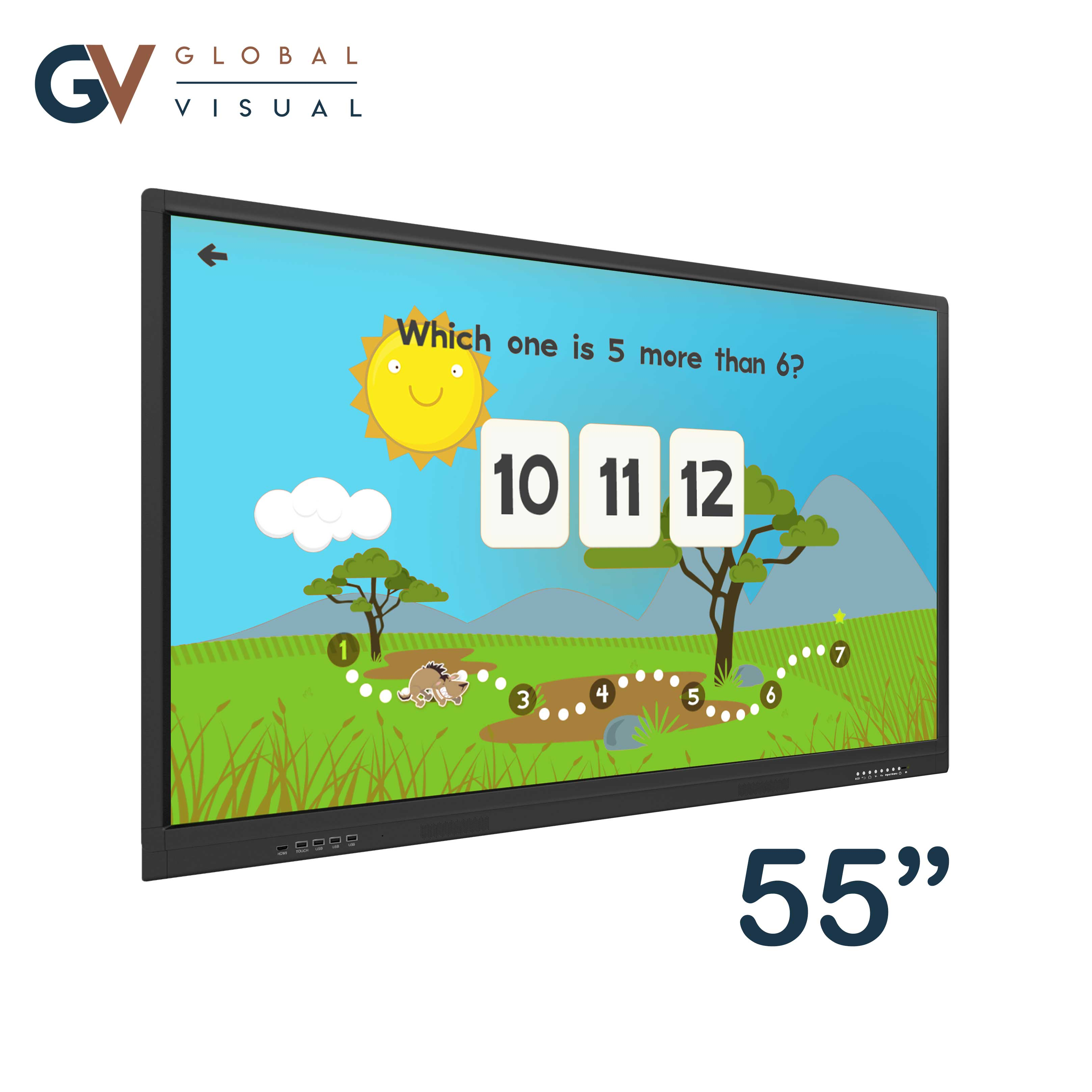 """Image of a 55"""" class room interactive touch display"""
