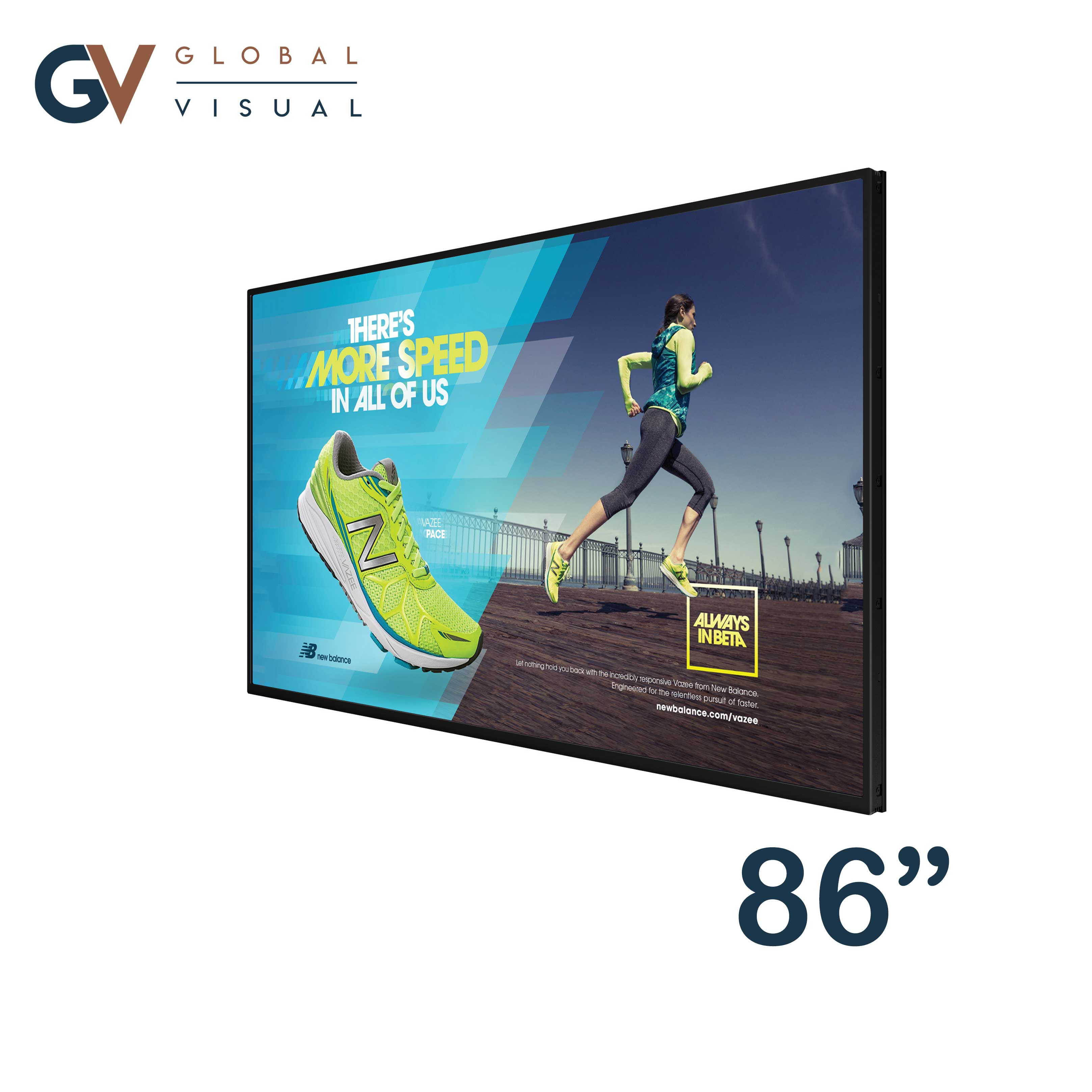 "Image of a 86"" commercial display"