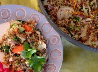 Nava Atlas's Quinoa Pilaf. Photo Credit: