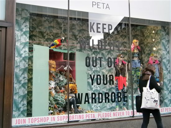 Keep wildlife out of your wardrobe. Photo Credit: PETA
