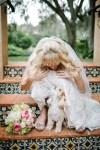 wedding dog with bride