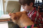 Xena helps Jonny with Homework
