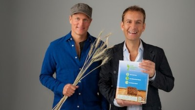Woody Harrelson and his partner Jeff Golfman introduce their eco-friendly woodless paper. Photo credit: Rawtographer