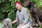 simpsons co-creator san simon with dogs