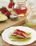 strawberry avocado honey vegetarian recipe