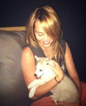 miley cyrus husky puppy dog