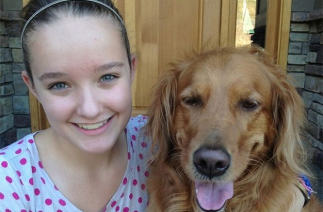 Brooke Martin invented the iCUpooch in response to her dog Kayla's separation anxiety. Photo Credit: Brooke Martin