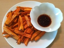 Packed with calcium, potassium and vitamins A & C, sweet potatoes are one of the most nutritious vegetables going. These sweet potato fries with sesame sauce is a delicious sweet & savory addition to any meal./Photo credit: Lisa Singer