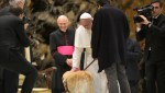 pope blesses guide dog