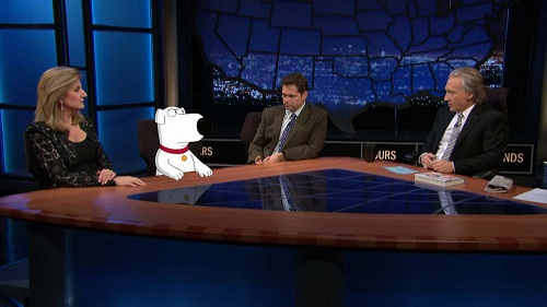 Bill Maher, Arianna Huffington, Dana Gould and Brian Griffen on Real Time