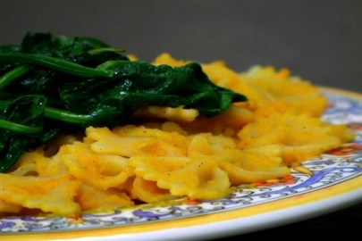 Butternut Squash And Spinach Pasta (VEGAN)
