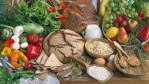 healthy fruits, vegetables, and grains