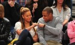 jay-z and beyonce at basketball game