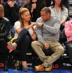 jay-z & beyonce at game