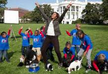 white house, michelle obama, puppy bowl, superbowl, dogs, puppies, politics