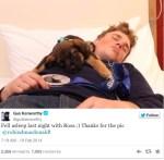 Gus Kenworthy tweets photo with sochi stray puppy dog on Twitter