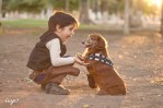 boy and his dachshund dog dressed in star wars costumes