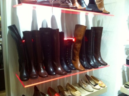 Today there's a wide demand for cruelty-free leather and stores like Aerosoles are taking notice. Reportedly all of their tall boots are now made from vegan leather./Photo credit: Lisa Singer