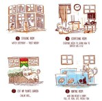 Infographic, cats, çat house, respect your cat day, funny cat memes, funny cat pictures