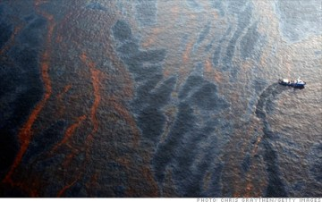 The Gulf Oil Spill from the sky. Photo Credit: The Getty Images