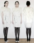winner xuanxuan li's fur-free designs white sweater