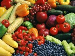 various fresh fruits and vegetables