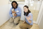 puppy adoption, biscuits & bath