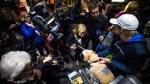 Arthur the dog greets fans in Sweden