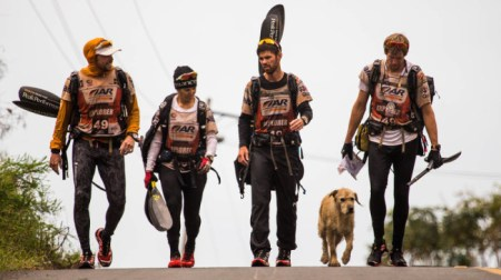 Arthur the dog and his teammates crossed the finish line as the 12th top team in the world. Photo Credit: Krister Goransson