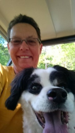 Mojo's first selfie with his new mom, Robin. Photo Credit: Robin Stamey