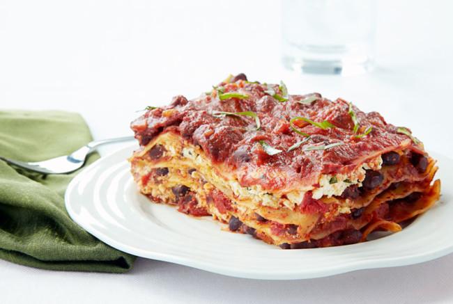 Cheeseless Black Bean Lasagna. Photo Credit: Good Housekeeping