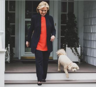 Hillary Clinton with her dog Maisie in August 2015. Photo Credit: Instagram.com/hillaryclinton