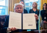 President Donald Trump Signs Executive Orders For Dakota Access and Keystone XL pipelines