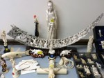 Illegal ivory horn trinkets confiscated by the New York State Department of Environmental Conservation