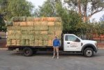 owner of feed store donates truckload of hay for humane society of ventura county