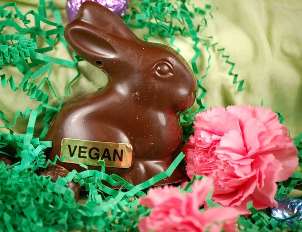 Vegan Chocolate Bunny - a compassionate Easter treat!