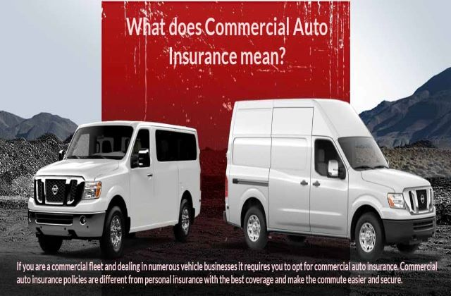 What does Commercial Auto Insurance mean?