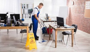 Office cleaning in summer