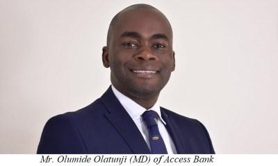 Mr Olumide Olatunji (MD) of Access Bank