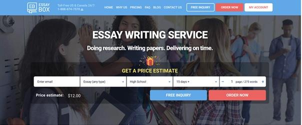 EssayBox.org main page
