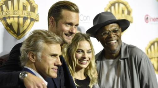 Christoph Waltz, Alexander Skarsgard, Margot Robbie and Samuel L. Jackson arrive at CinemaCon 2016