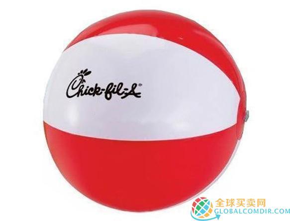 Wasserball Rot Weiss mit hochwertigem Werbeaufdruck